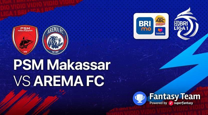 Laga Perdana, PSM Ditahan Imbang Arema FC