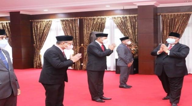 Gubernur Sultra Lantik Pejabat Pimpinan Tinggi Pratama Lingkup Pemprov