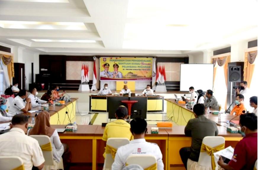 Gubernur Gorontalo, Rusli Dorong Himbara Permudah Penyaluran Bansos