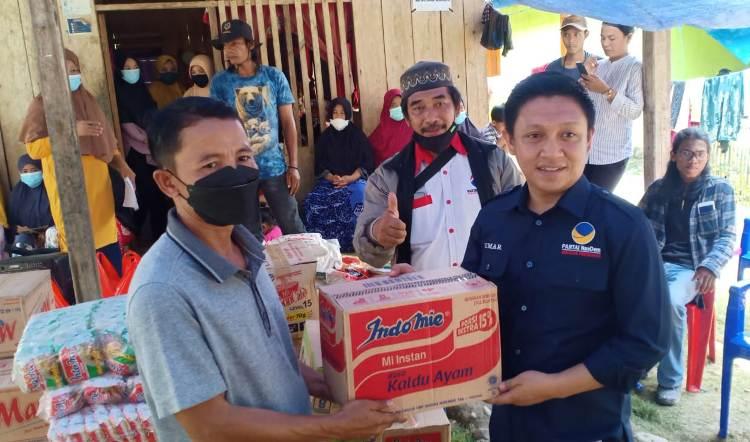DPD Partai NasDem Palopo Salurkan Bantuan ke Korban Banjir dan Longsor Walmas, Kab. Luwu