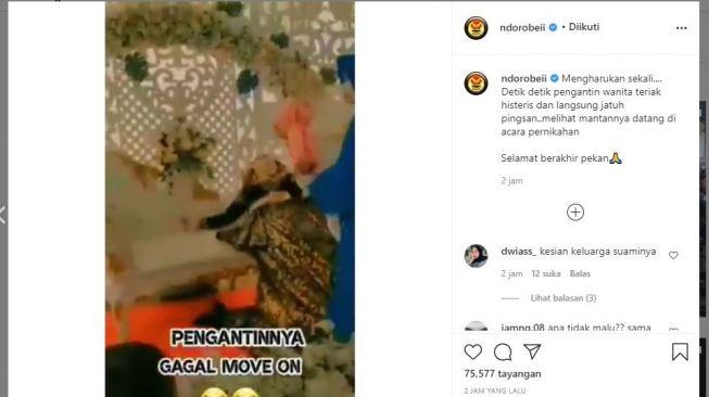 Viral..  Video Pengantin Wanita Pingsan Karena Mantan Kekasih Datang di Pesta Pernikahan