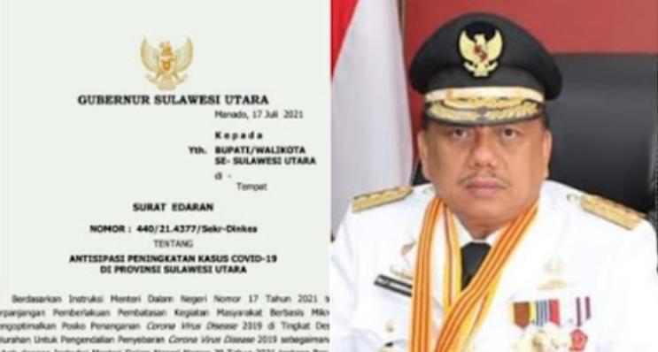 PPKM Mikro di Sulawesi Utara Diperpanjang Hingga 1 Agustus 2021