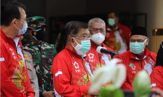 Ketua PMI, Jusuf Kalla Luncurkan Program 2 Juta Vaksinasi Indonesia