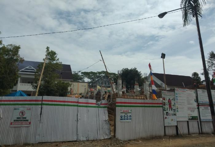 Terdampak Gempa Kantor Bupati Mamuju Masih Dalam Tahap Rehabilitasi dan Rekonstruksi