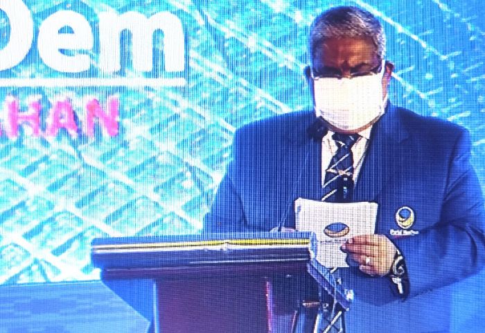 Rakorwil DPW Partai Nasdem  Sultra , Gubernur Ali Mazi Dilantik Jadi Ketua DPW