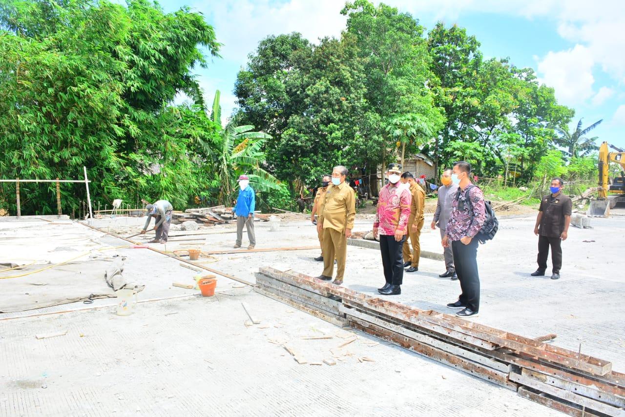 Wagub Sulsel Tinjau Pembangunan Jembatan Jalan SKPD Watangpulu di Sidrap