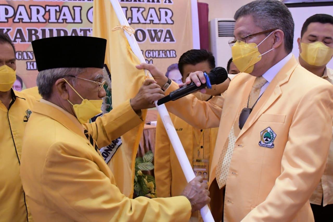 Ini Pesan Taufan Pawe Setelah Ambas Syam Aklamasi Terpilih jadi Ketua DPD II Golkar Gowa
