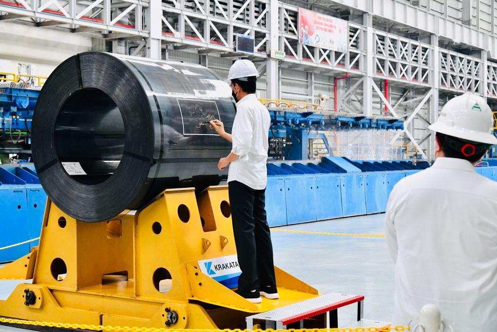 Resmikan Hot Strip Mill 2 Krakatau Steel, Presiden: Industri Baja Pilar Penting Pertumbuhan Ekonomi