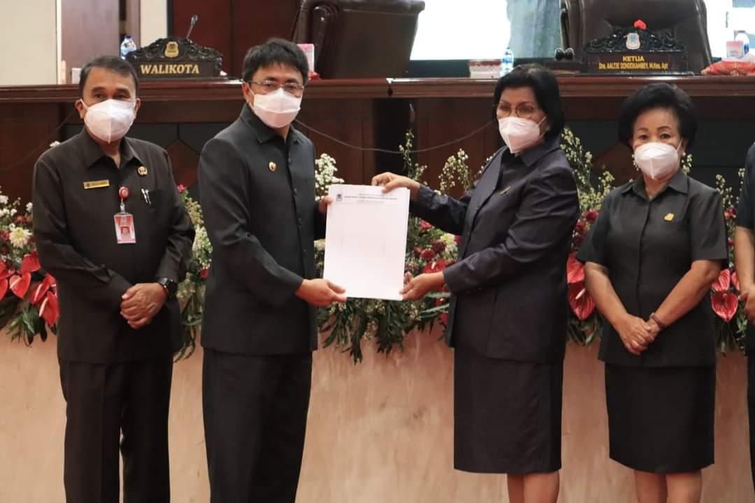 Pemkot dan DPRD Kota Manado Setujui Ranperda APBD Perubahan 2021