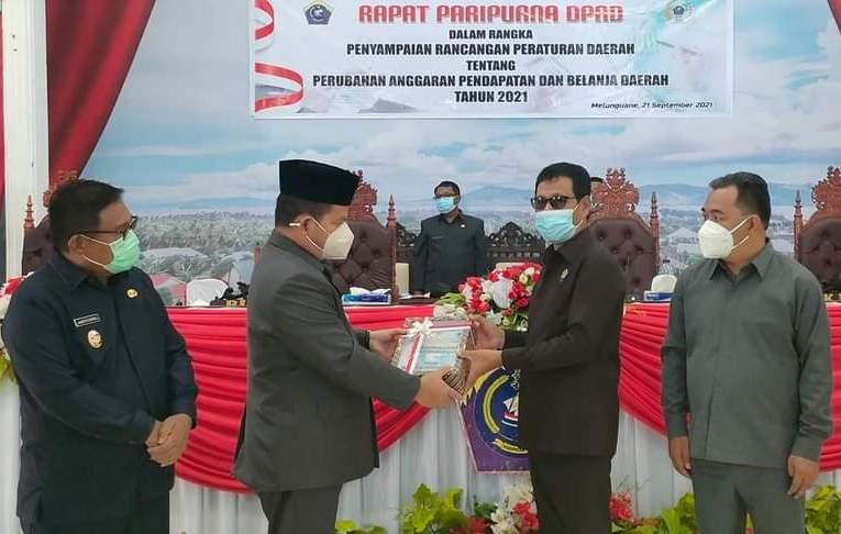 DPRD Talaud Gelar Rapat Paripurna Penyampaian Ranperda P - APBD 2021