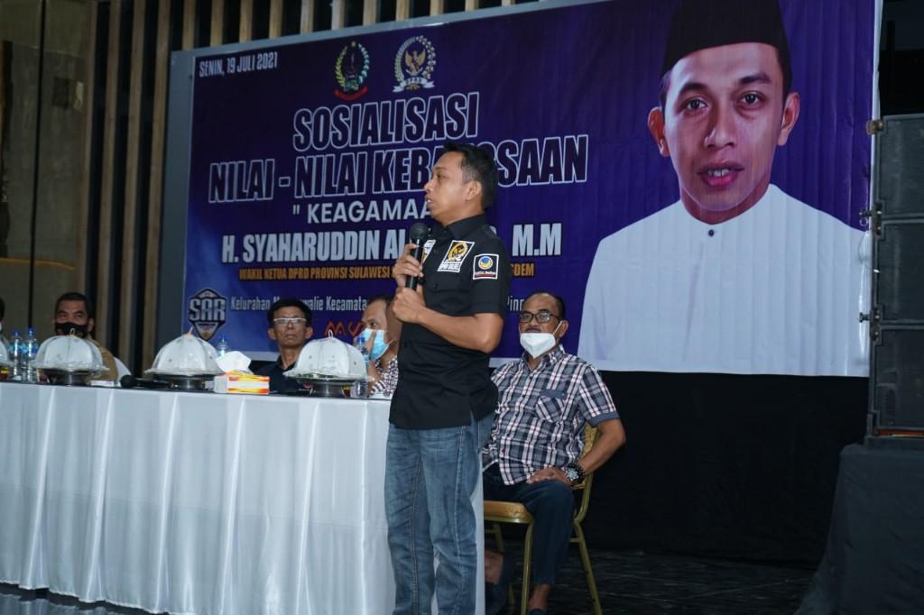 Sosialisasi Nilai-nilai Kebangsaan Di Pinrang, Syaharuddin Alrif: Masyarakat Punya Peran Penting Membangun Bangsa