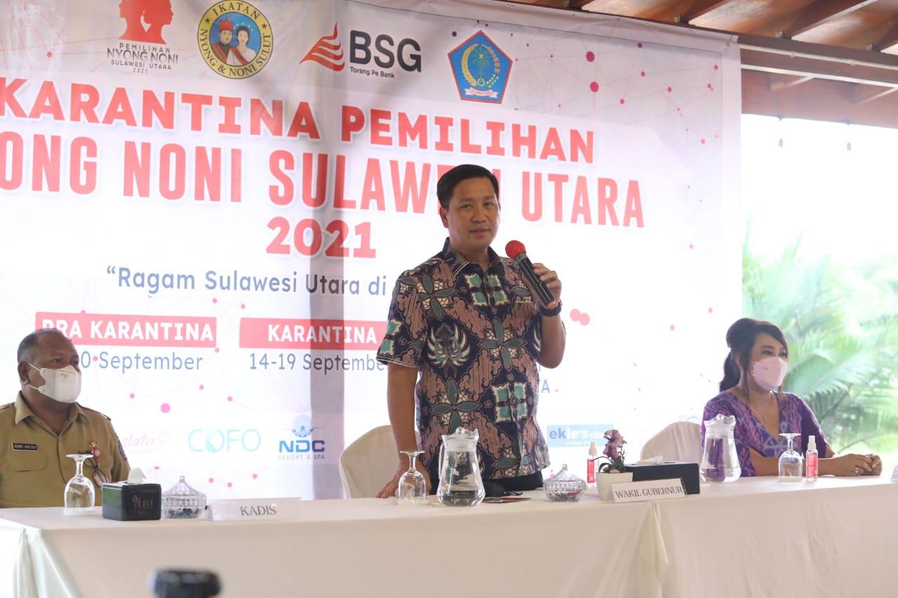 Wagub Sulut, Steven Kandouw, Buka Karantina Pemilihan Nyong Noni Sulut  2021