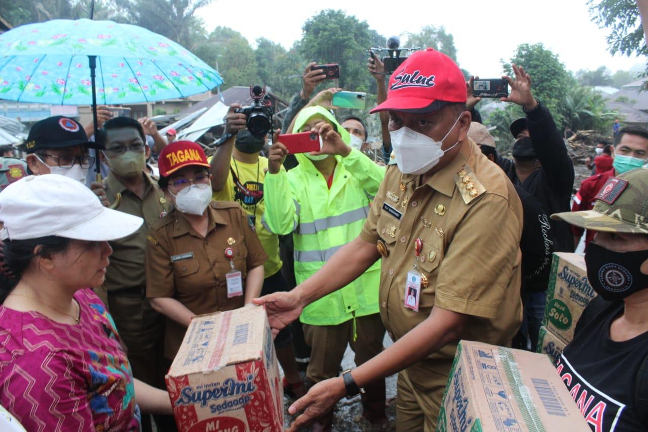 Gubernur Sulut Pantau Langsung Bencana Banjir Bandang Di Kabupaten Minahasa Tenggara