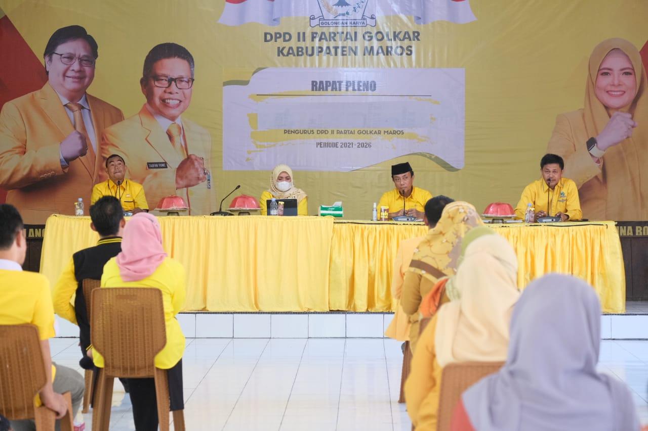 Rapat Pleno DPD II Golkar Maros Putuskan Pemecatan Terhadap Wahyuni Malik